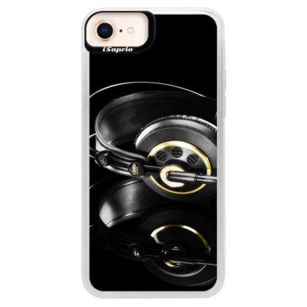 Neonové pouzdro Pink iSaprio – Headphones 02 – iPhone 8 Neonové pouzdro Pink iSaprio – Headphones 02 – iPhone 8