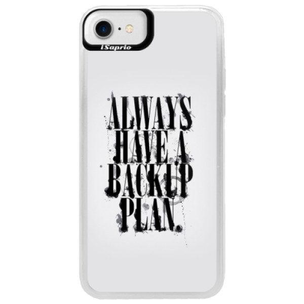 Neonové pouzdro Blue iSaprio – Backup Plan – iPhone 7 Neonové pouzdro Blue iSaprio – Backup Plan – iPhone 7