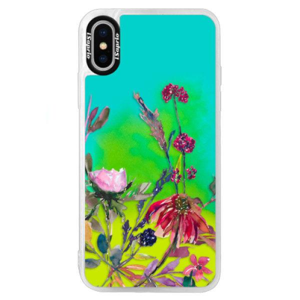Neonové pouzdro Blue iSaprio – Herbs 02 – iPhone X Neonové pouzdro Blue iSaprio – Herbs 02 – iPhone X