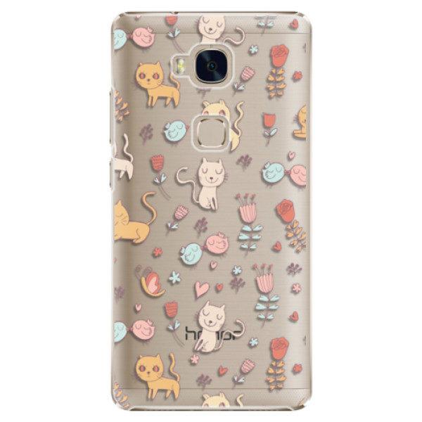 Plastové pouzdro iSaprio – Cat pattern 02 – Huawei Honor 5X Plastové pouzdro iSaprio – Cat pattern 02 – Huawei Honor 5X