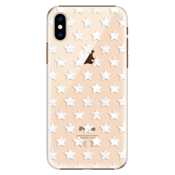Plastové pouzdro iSaprio – Stars Pattern – white – iPhone XS Plastové pouzdro iSaprio – Stars Pattern – white – iPhone XS