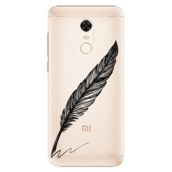 Plastové pouzdro iSaprio – Writing By Feather – black – Xiaomi Redmi 5 Plus Plastové pouzdro iSaprio – Writing By Feather – black – Xiaomi Redmi 5 Plus