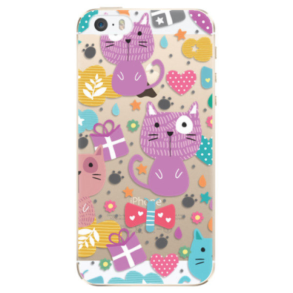 Plastové pouzdro iSaprio – Cat pattern 01 – iPhone 5/5S/SE Plastové pouzdro iSaprio – Cat pattern 01 – iPhone 5/5S/SE
