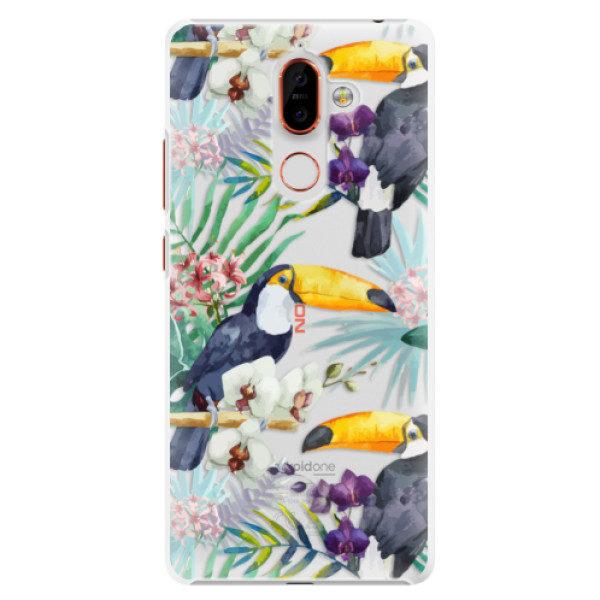 Plastové pouzdro iSaprio – Tucan Pattern 01 – Nokia 7 Plus Plastové pouzdro iSaprio – Tucan Pattern 01 – Nokia 7 Plus