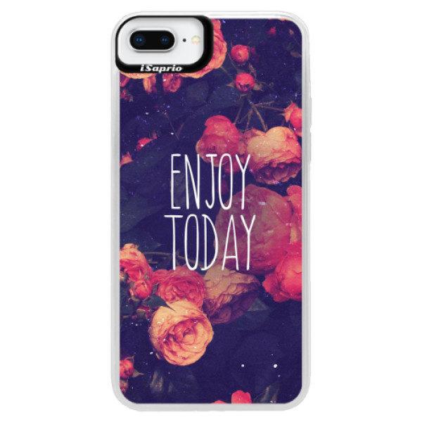Neonové pouzdro Blue iSaprio – Enjoy Today – iPhone 8 Plus Neonové pouzdro Blue iSaprio – Enjoy Today – iPhone 8 Plus