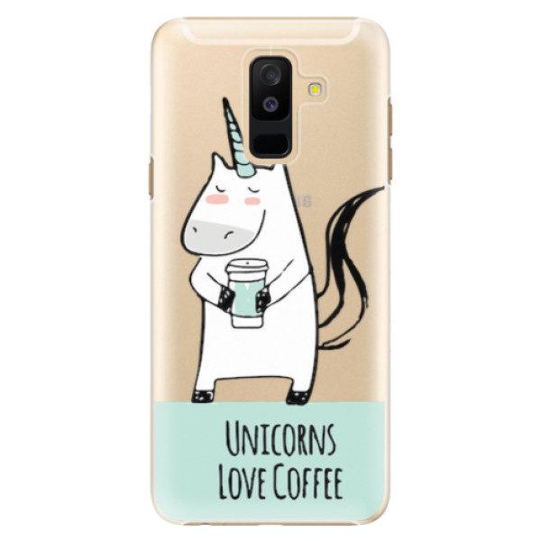 Plastové pouzdro iSaprio – Unicorns Love Coffee – Samsung Galaxy A6+ Plastové pouzdro iSaprio – Unicorns Love Coffee – Samsung Galaxy A6+