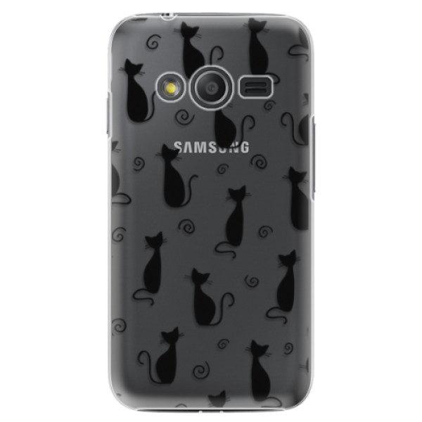 Plastové pouzdro iSaprio – Cat pattern 05 – black – Samsung Galaxy Trend 2 Lite Plastové pouzdro iSaprio – Cat pattern 05 – black – Samsung Galaxy Trend 2 Lite