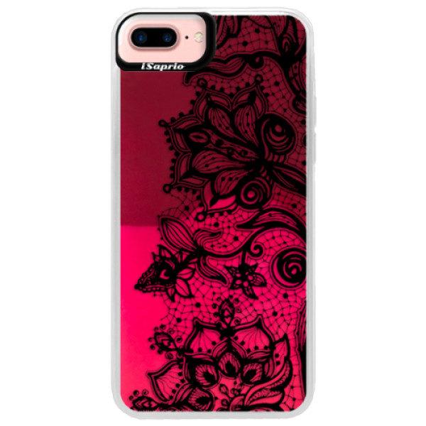 Neonové pouzdro Pink iSaprio – Black Lace – iPhone 7 Plus Neonové pouzdro Pink iSaprio – Black Lace – iPhone 7 Plus