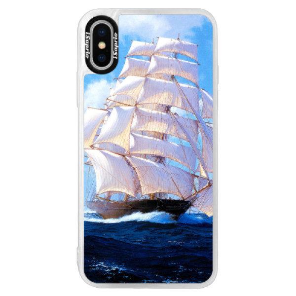 Neonové pouzdro Pink iSaprio – Sailing Boat – iPhone XS Neonové pouzdro Pink iSaprio – Sailing Boat – iPhone XS