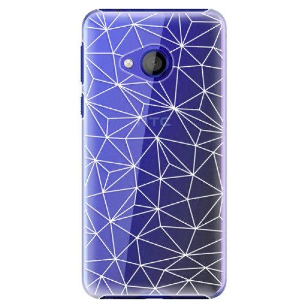 Plastové pouzdro iSaprio – Abstract Triangles 03 – white – HTC U Play Plastové pouzdro iSaprio – Abstract Triangles 03 – white – HTC U Play