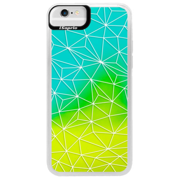 Neonové pouzdro Blue iSaprio – Abstract Triangles 03 – white – iPhone 6/6S Neonové pouzdro Blue iSaprio – Abstract Triangles 03 – white – iPhone 6/6S
