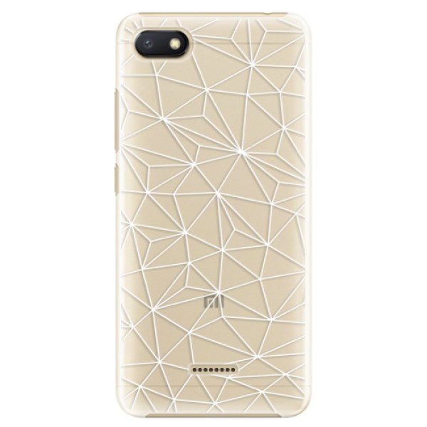 Plastové pouzdro iSaprio – Abstract Triangles 03 – white – Xiaomi Redmi 6A Plastové pouzdro iSaprio – Abstract Triangles 03 – white – Xiaomi Redmi 6A