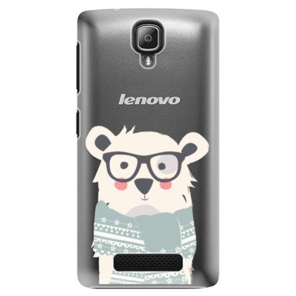 Plastové pouzdro iSaprio – Bear with Scarf – Lenovo A1000 Plastové pouzdro iSaprio – Bear with Scarf – Lenovo A1000
