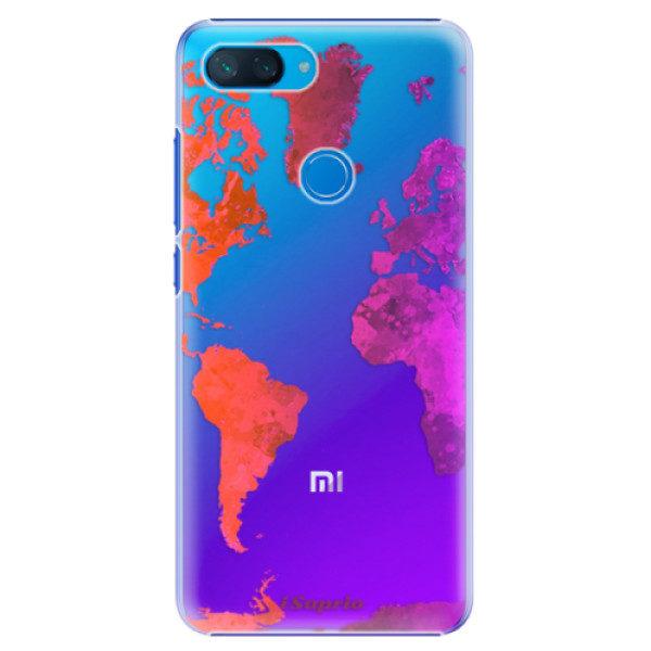 Plastové pouzdro iSaprio – Warm Map – Xiaomi Mi 8 Lite Plastové pouzdro iSaprio – Warm Map – Xiaomi Mi 8 Lite