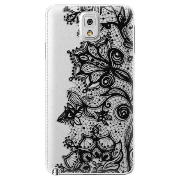 Plastové pouzdro iSaprio – Black Lace – Samsung Galaxy Note 3 Plastové pouzdro iSaprio – Black Lace – Samsung Galaxy Note 3