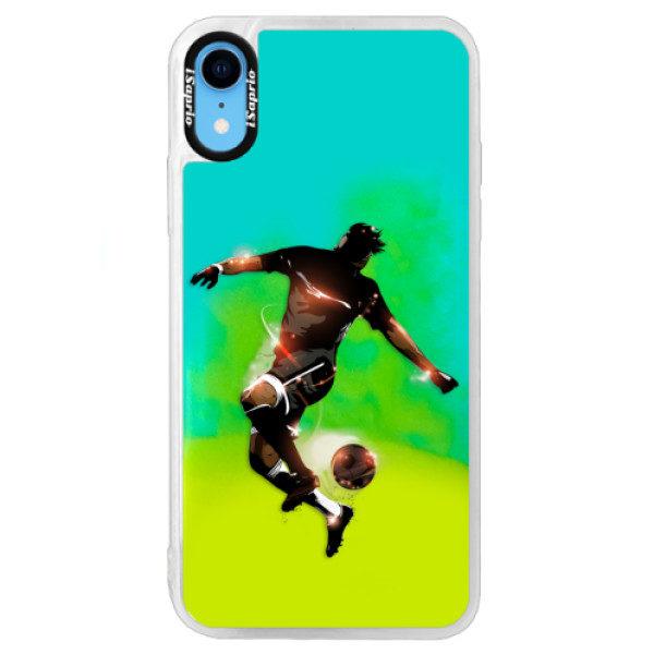 Neonové pouzdro Blue iSaprio – Fotball 01 – iPhone XR Neonové pouzdro Blue iSaprio – Fotball 01 – iPhone XR