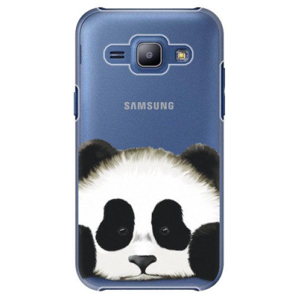 Plastové pouzdro iSaprio – Sad Panda – Samsung Galaxy J1 Plastové pouzdro iSaprio – Sad Panda – Samsung Galaxy J1