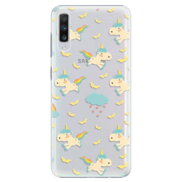 Plastové pouzdro iSaprio – Unicorn pattern 01 – Samsung Galaxy A70 Plastové pouzdro iSaprio – Unicorn pattern 01 – Samsung Galaxy A70