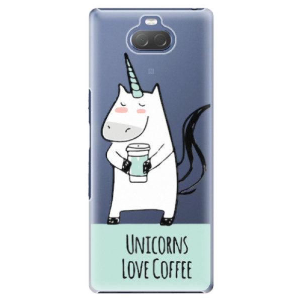 Plastové pouzdro iSaprio – Unicorns Love Coffee – Sony Xperia 10 Plus Plastové pouzdro iSaprio – Unicorns Love Coffee – Sony Xperia 10 Plus