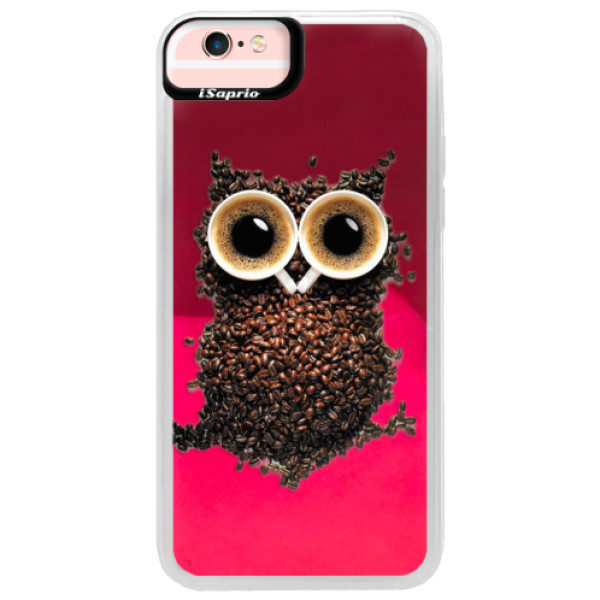 Neonové pouzdro Pink iSaprio – Owl And Coffee – iPhone 6/6S Neonové pouzdro Pink iSaprio – Owl And Coffee – iPhone 6/6S