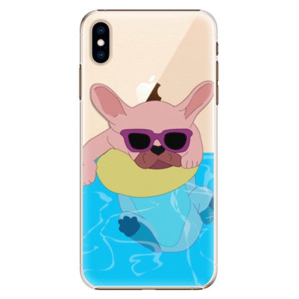 Plastové pouzdro iSaprio – Swimming Dog – iPhone XS Max Plastové pouzdro iSaprio – Swimming Dog – iPhone XS Max