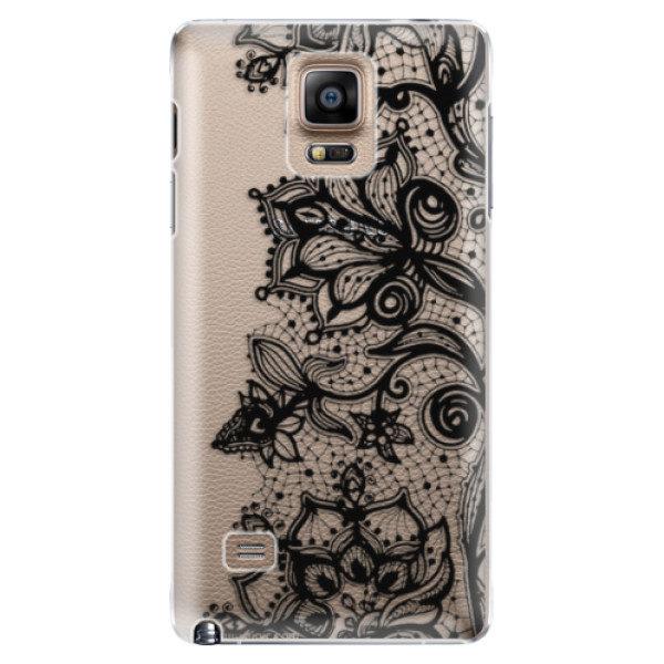 Plastové pouzdro iSaprio – Black Lace – Samsung Galaxy Note 4 Plastové pouzdro iSaprio – Black Lace – Samsung Galaxy Note 4
