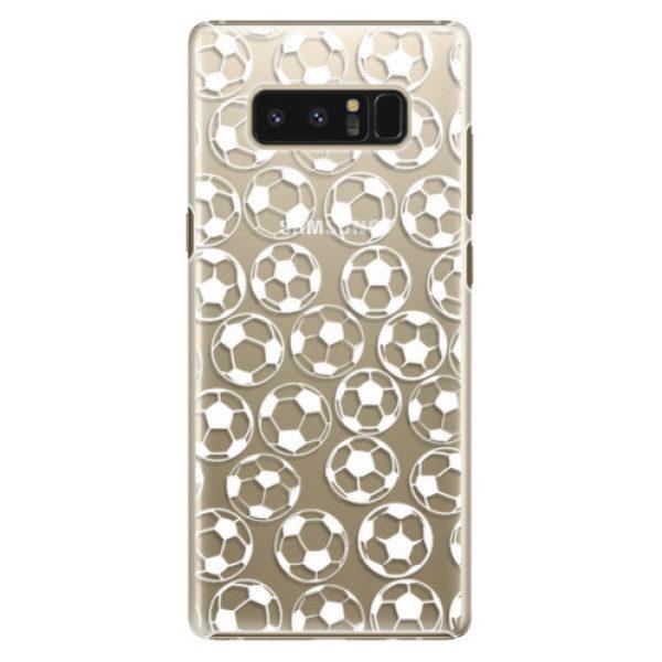 Plastové pouzdro iSaprio – Football pattern – white – Samsung Galaxy Note 8 Plastové pouzdro iSaprio – Football pattern – white – Samsung Galaxy Note 8