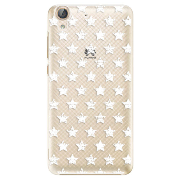 Plastové pouzdro iSaprio – Stars Pattern – white – Huawei Y6 II Plastové pouzdro iSaprio – Stars Pattern – white – Huawei Y6 II
