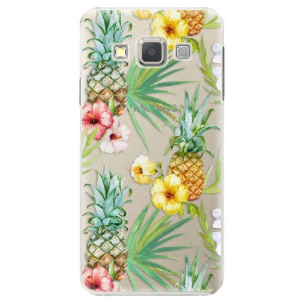 Plastové pouzdro iSaprio – Pineapple Pattern 02 – Samsung Galaxy A3 Plastové pouzdro iSaprio – Pineapple Pattern 02 – Samsung Galaxy A3