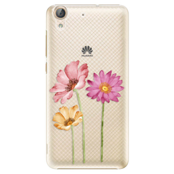 Plastové pouzdro iSaprio – Three Flowers – Huawei Y6 II Plastové pouzdro iSaprio – Three Flowers – Huawei Y6 II