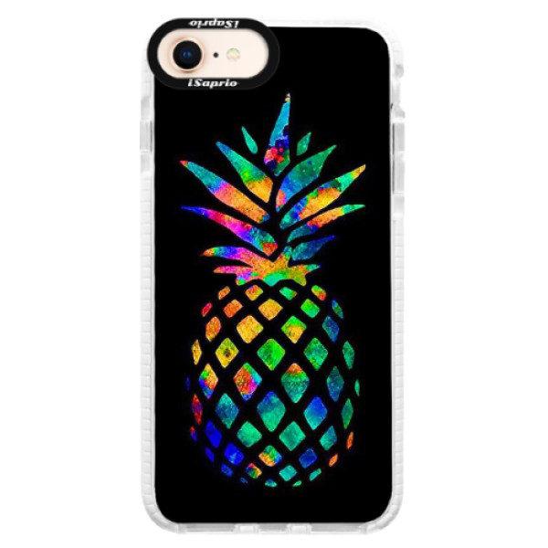 Silikonové pouzdro Bumper iSaprio – Rainbow Pineapple – iPhone 8 Silikonové pouzdro Bumper iSaprio – Rainbow Pineapple – iPhone 8