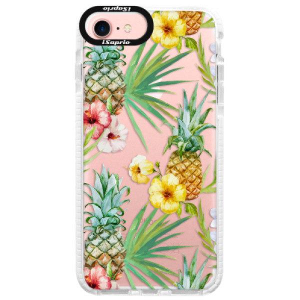 Silikonové pouzdro Bumper iSaprio – Pineapple Pattern 02 – iPhone 7 Silikonové pouzdro Bumper iSaprio – Pineapple Pattern 02 – iPhone 7