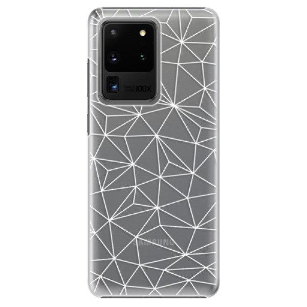 Plastové pouzdro iSaprio – Abstract Triangles 03 – white – Samsung Galaxy S20 Ultra Plastové pouzdro iSaprio – Abstract Triangles 03 – white – Samsung Galaxy S20 Ultra