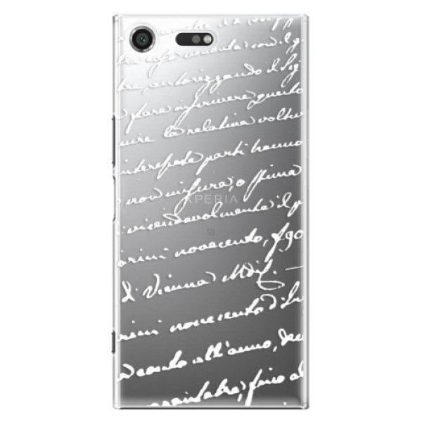 Plastové pouzdro iSaprio – Handwriting 01 – white – Sony Xperia XZ Premium Plastové pouzdro iSaprio – Handwriting 01 – white – Sony Xperia XZ Premium