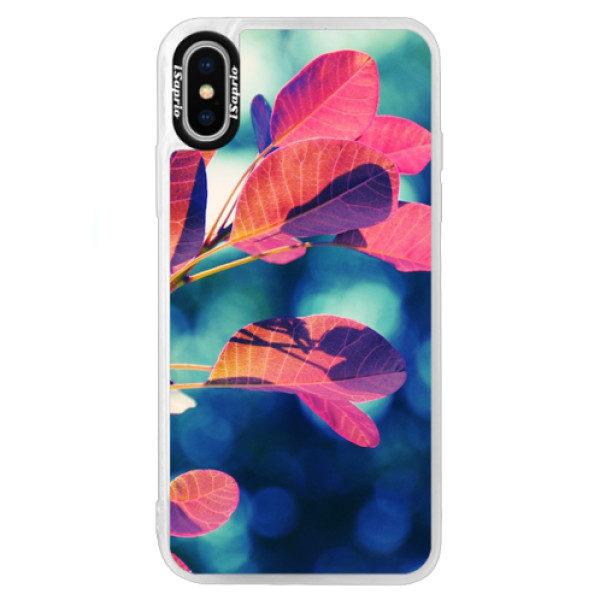 Neonové pouzdro Blue iSaprio – Autumn 01 – iPhone XS Neonové pouzdro Blue iSaprio – Autumn 01 – iPhone XS