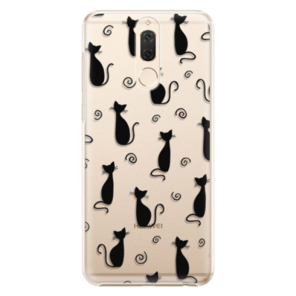 Plastové pouzdro iSaprio – Cat pattern 05 – black – Huawei Mate 10 Lite Plastové pouzdro iSaprio – Cat pattern 05 – black – Huawei Mate 10 Lite