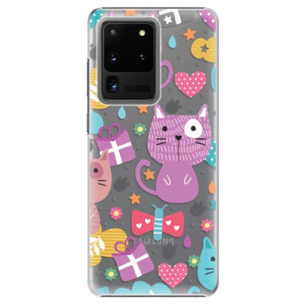 Plastové pouzdro iSaprio – Cat pattern 01 – Samsung Galaxy S20 Ultra Plastové pouzdro iSaprio – Cat pattern 01 – Samsung Galaxy S20 Ultra
