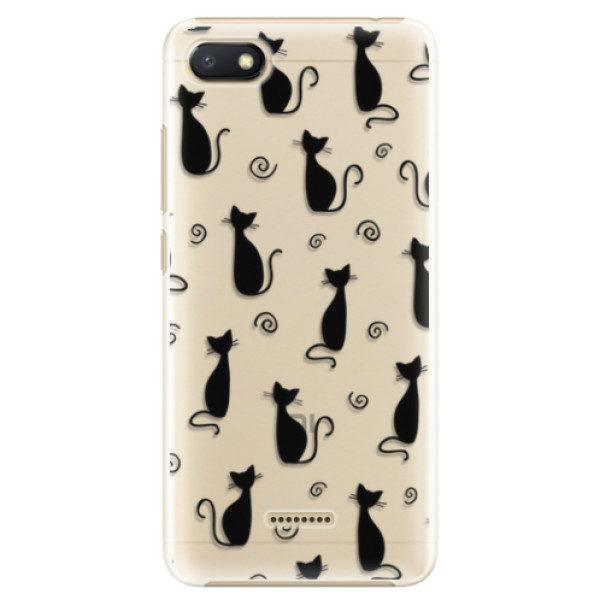 Plastové pouzdro iSaprio – Cat pattern 05 – black – Xiaomi Redmi 6A Plastové pouzdro iSaprio – Cat pattern 05 – black – Xiaomi Redmi 6A