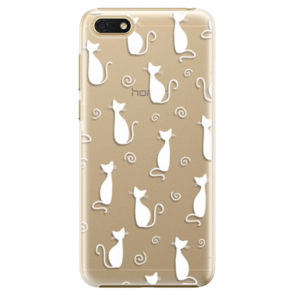 Plastové pouzdro iSaprio – Cat pattern 05 – white – Huawei Honor 7S Plastové pouzdro iSaprio – Cat pattern 05 – white – Huawei Honor 7S