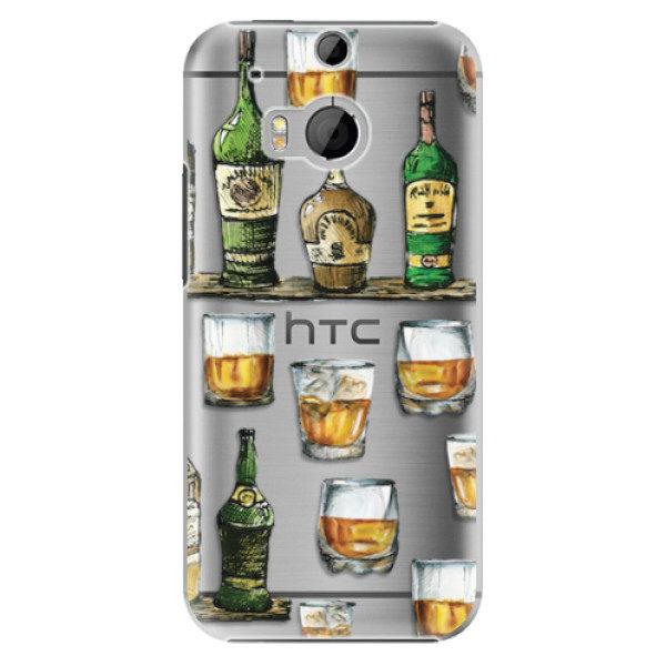 Plastové pouzdro iSaprio – Whisky pattern – HTC One M8 Plastové pouzdro iSaprio – Whisky pattern – HTC One M8