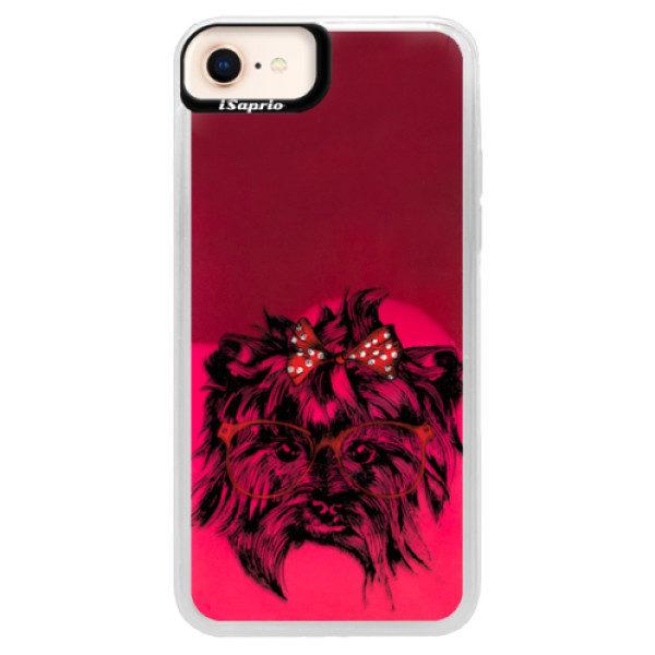 Neonové pouzdro Pink iSaprio – Dog 03 – iPhone 8 Neonové pouzdro Pink iSaprio – Dog 03 – iPhone 8