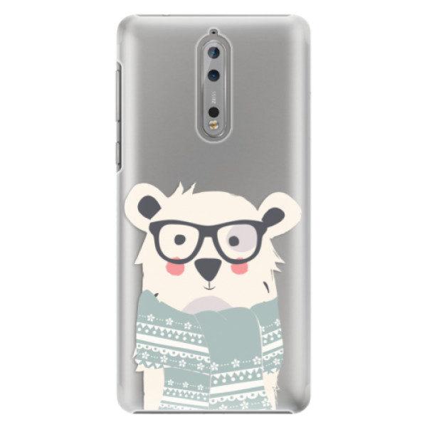 Plastové pouzdro iSaprio – Bear with Scarf – Nokia 8 Plastové pouzdro iSaprio – Bear with Scarf – Nokia 8