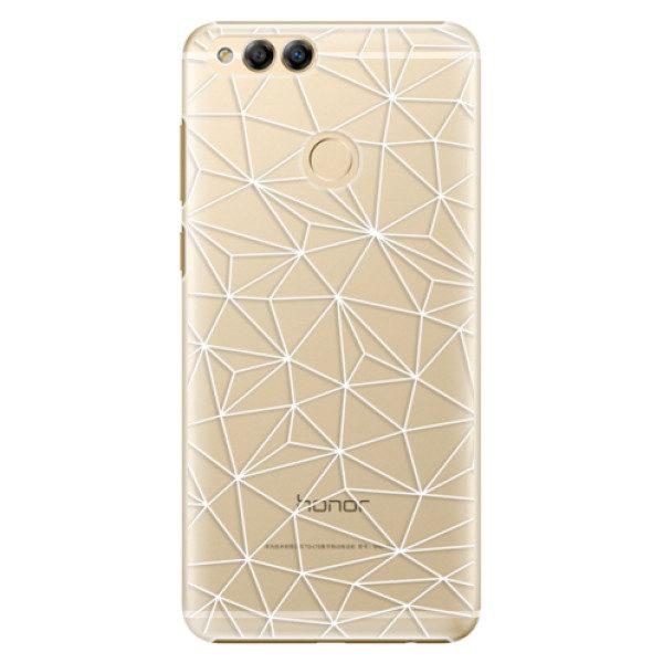 Plastové pouzdro iSaprio – Abstract Triangles 03 – white – Huawei Honor 7X Plastové pouzdro iSaprio – Abstract Triangles 03 – white – Huawei Honor 7X