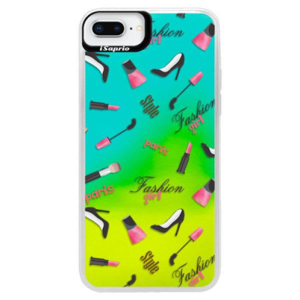 Neonové pouzdro Blue iSaprio – Fashion pattern 01 – iPhone 8 Plus Neonové pouzdro Blue iSaprio – Fashion pattern 01 – iPhone 8 Plus