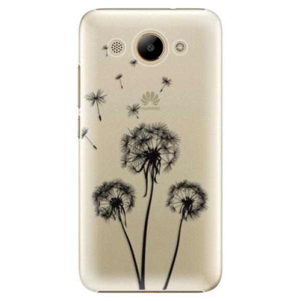 Plastové pouzdro iSaprio – Three Dandelions – black – Huawei Y3 2017 Plastové pouzdro iSaprio – Three Dandelions – black – Huawei Y3 2017