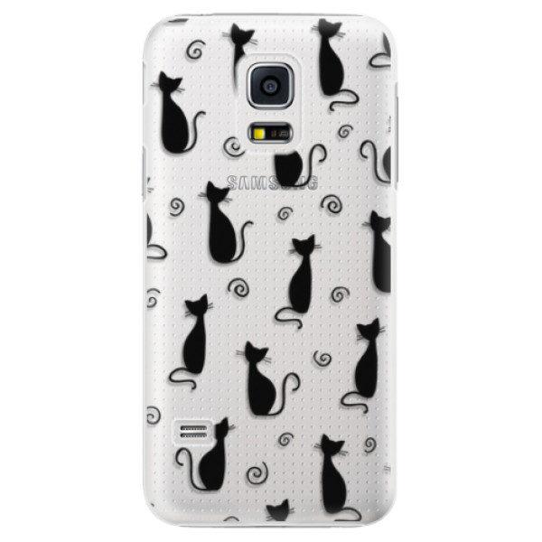 Plastové pouzdro iSaprio – Cat pattern 05 – black – Samsung Galaxy S5 Mini Plastové pouzdro iSaprio – Cat pattern 05 – black – Samsung Galaxy S5 Mini