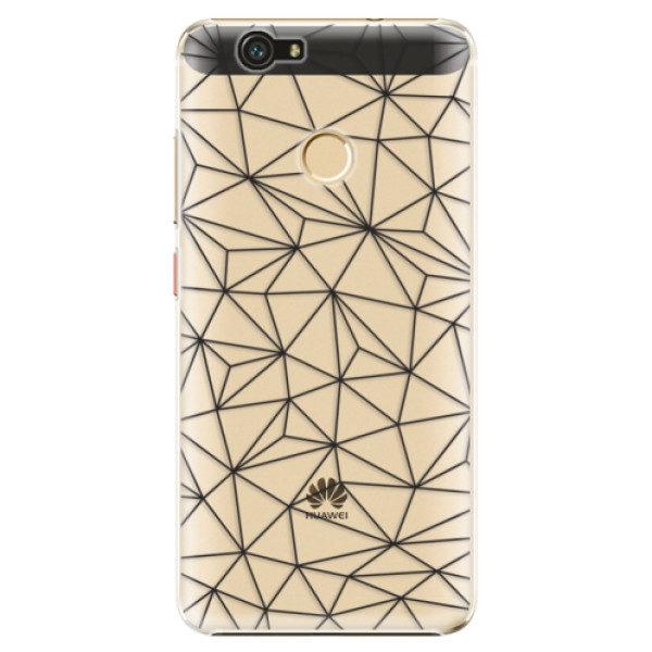 Plastové pouzdro iSaprio – Abstract Triangles 03 – black – Huawei Nova Plastové pouzdro iSaprio – Abstract Triangles 03 – black – Huawei Nova
