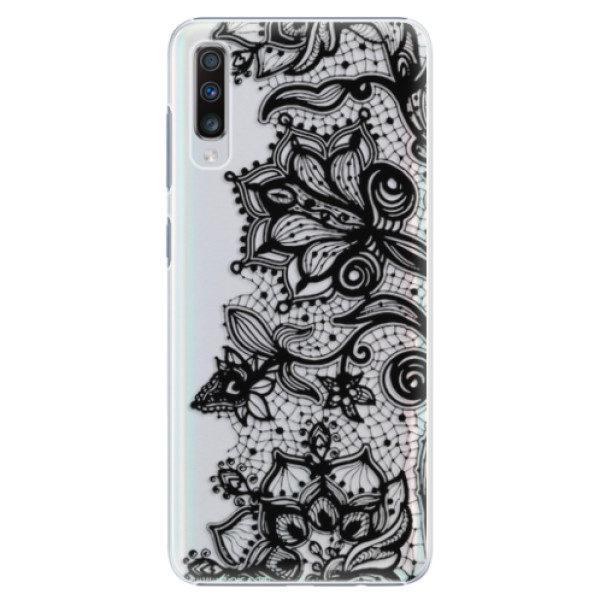 Plastové pouzdro iSaprio – Black Lace – Samsung Galaxy A70 Plastové pouzdro iSaprio – Black Lace – Samsung Galaxy A70