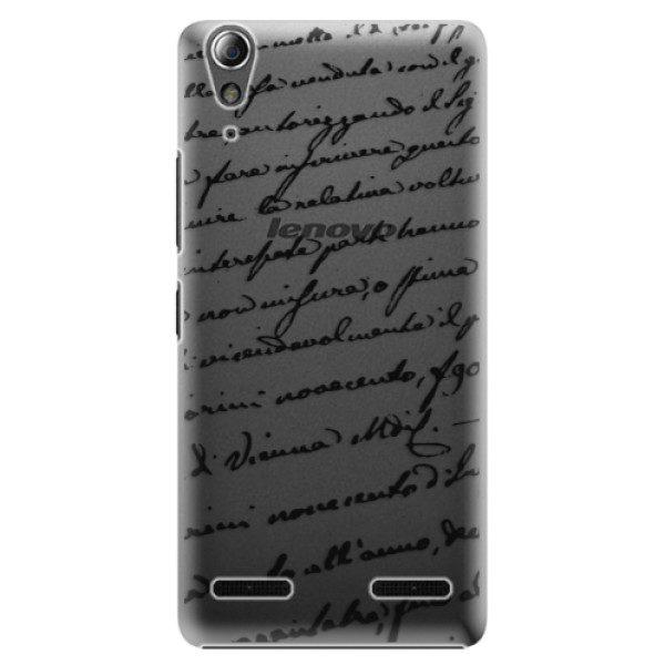 Plastové pouzdro iSaprio – Handwriting 01 – black – Lenovo A6000 / K3 Plastové pouzdro iSaprio – Handwriting 01 – black – Lenovo A6000 / K3