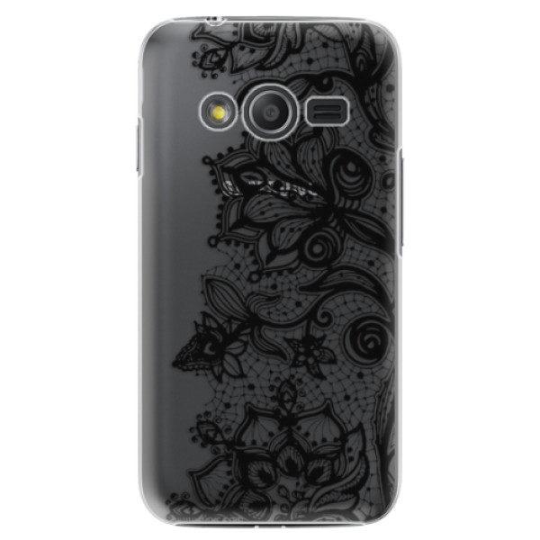 Plastové pouzdro iSaprio – Black Lace – Samsung Galaxy Trend 2 Lite Plastové pouzdro iSaprio – Black Lace – Samsung Galaxy Trend 2 Lite